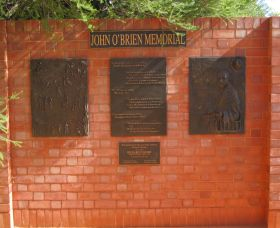 John OBrien Commemorative Wall - Accommodation QLD