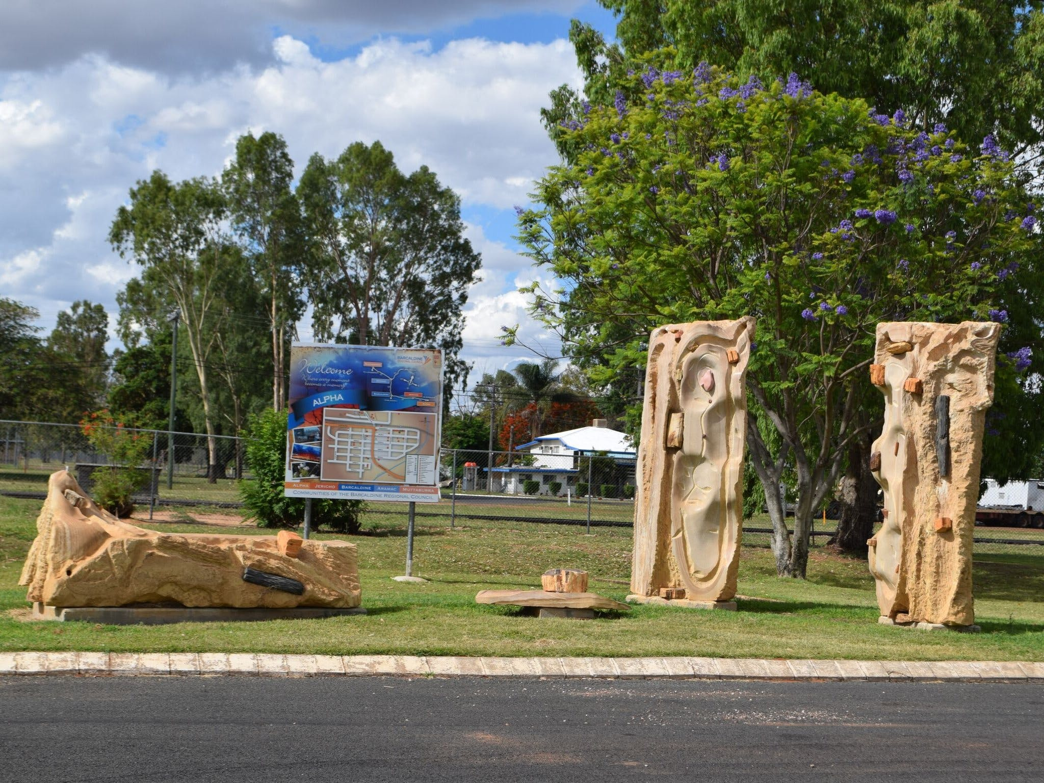 The Fossilised Forest Sculpture - Accommodation QLD