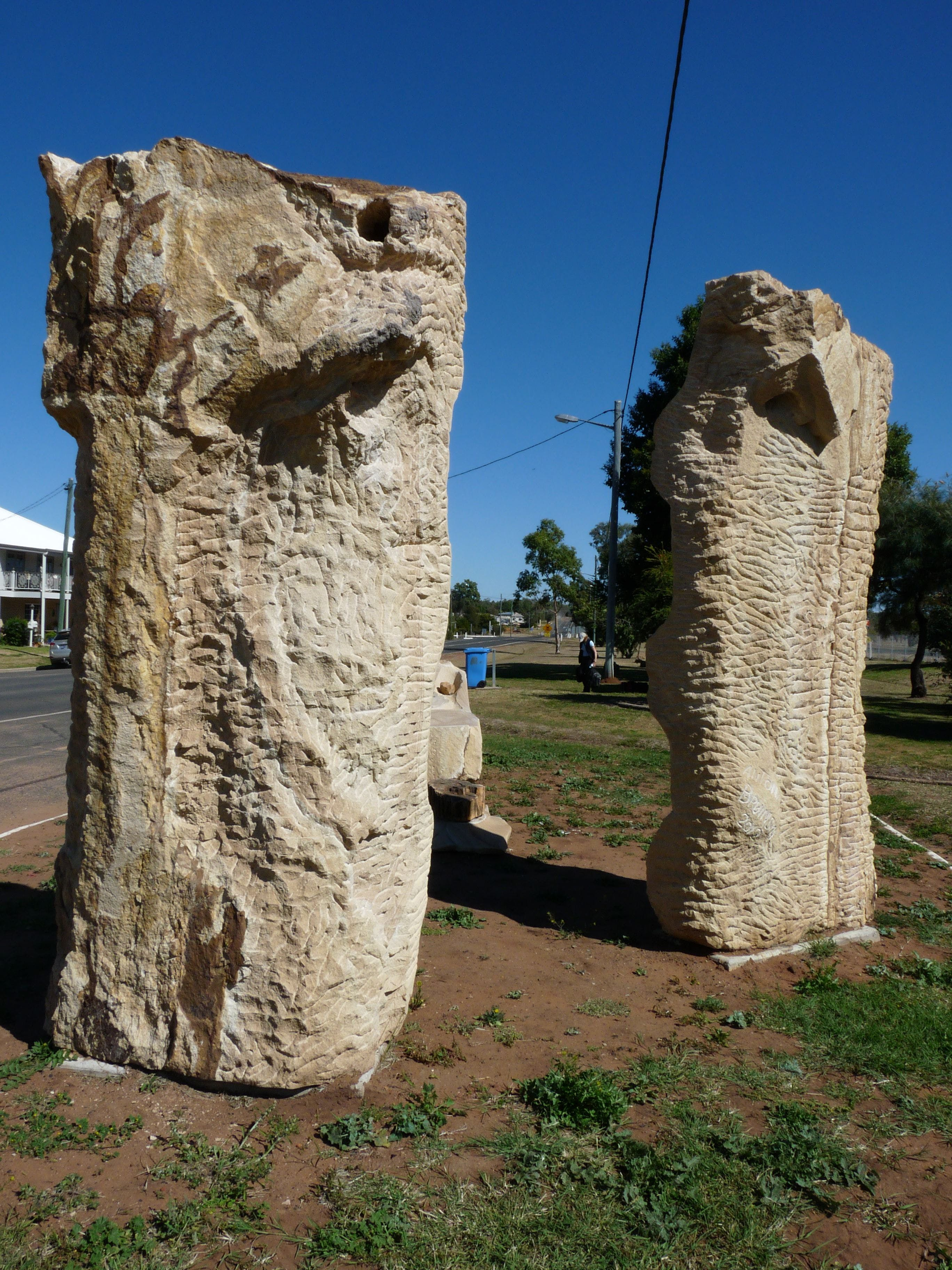 Fossilised Forrest Sculptures - Accommodation QLD