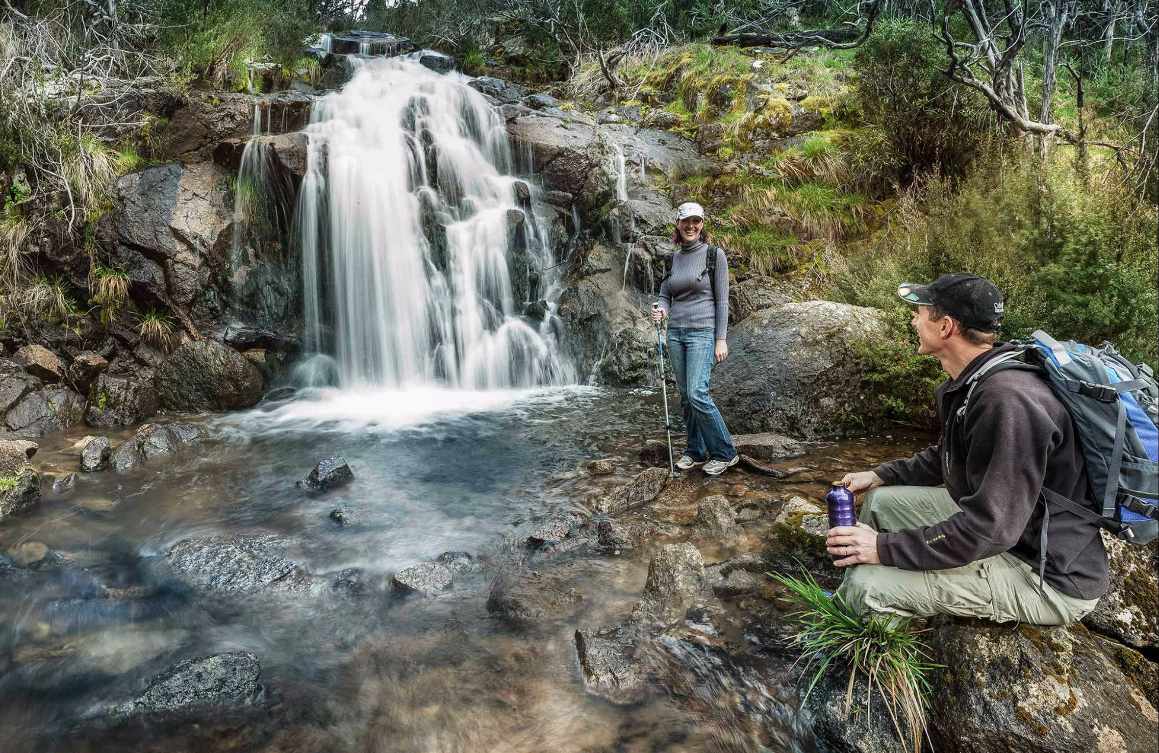 Waterfall Walking Track Kosciuszko National Park - Accommodation QLD