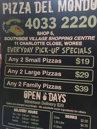 Pizza Del Mondo Cairns - Accommodation QLD